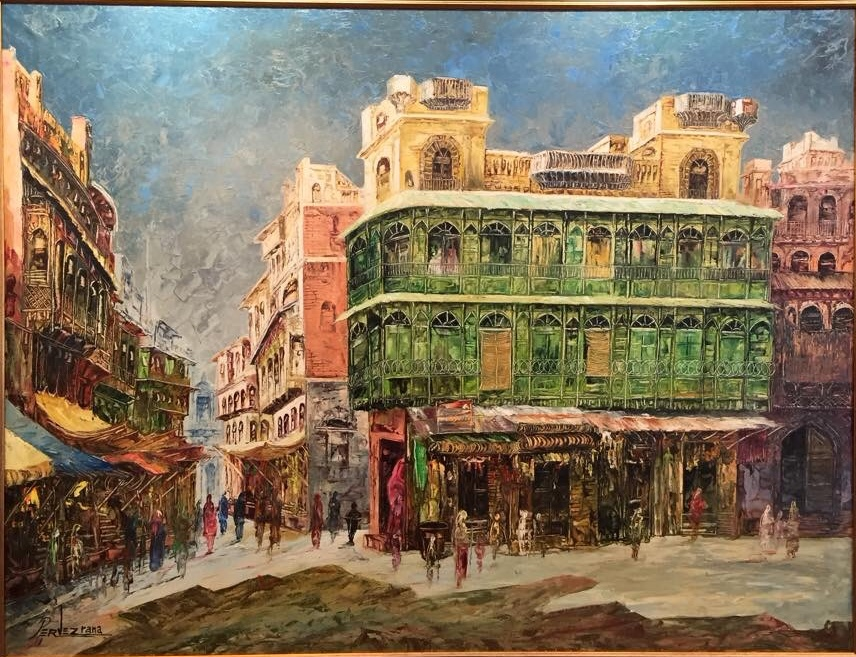 Parvez Rana Paintings at New Louvre Art Gallery Karachi
