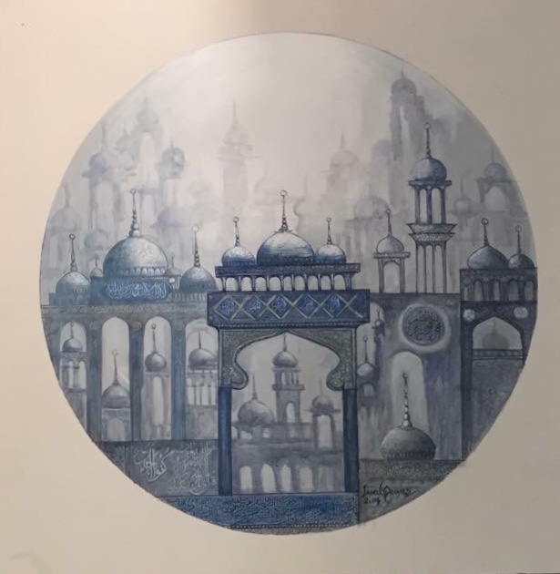 Javed Qamar Paintings at New Louvre Art Gallery Karachi