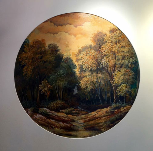 G N Qazi Paintings at New Louvre Art Gallery Karachi