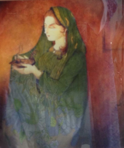 Nazrul Islam Paintings at New Louvre Art Gallery Karachi
