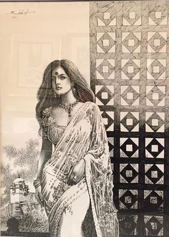 Shahid Paintings at New Louvre Art Gallery Karachi