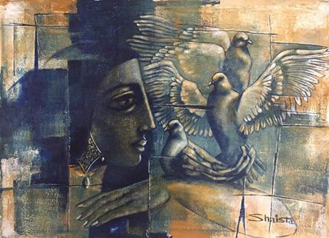 Shaista Paintings at New Louvre Art Gallery Karachi