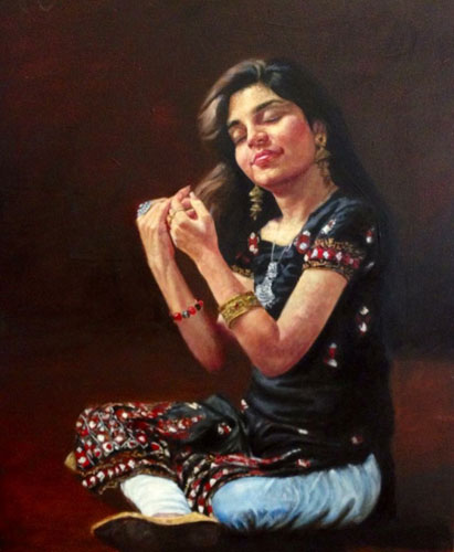 Tanveer Paintings at New Louvre Art Gallery Karachi